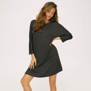 Aritzia Wilfred Cober T-Shirt Dress Olive Green L